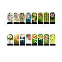 12pcs nail art folija oklopa oblozi patch naljepnice-zeleni serije