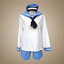 Inspirovaný Hetalia Sealand Anime Cosplay kostýmy Cosplay šaty / Školní uniformy Patchwork Biały / Niebieski Dlouhé rukávyVrchní deska /