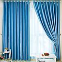 Dva panely Window Léčba Středomořský , Jednolitý Ložnice Polyester Materiál záclony závěsy Home dekorace For Okno