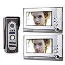 7 palcový barevný TFT LCD video dveřní telefonní systém (1 fotoaparát s 2 monitorem)