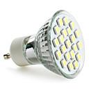 GU10 5050 SMD 21 LEDホワイト200-220lm電球(230V、3〜3.5ワット)