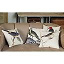 lana i pamuka jastuk pokriti s pticama ukras (set od 4)