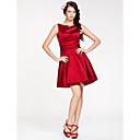 Lanting Bride® Krátký / Mini Satén Šaty pro družičky - A-Linie / Princess Bateau Větší velikosti / Malé s Šerpa / Stuha