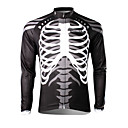 SPAKCT Men's Long Sleeve Bike Jersey Tops Thermal / Warm Quick Dry Ultraviolet Resistant Breathable 100% Polyester Skulls Spring Summer