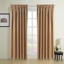 二つのパネルのロッドポケットトップモダンクラシックは、遮光カーテンのカーテンをエンボス