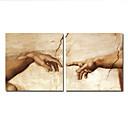手描き 人物画 油絵 中枠付き (2ピースセット)