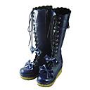 ručne tinta plavi PU kože 7cm platforma slatka Lolita čizme s lukom