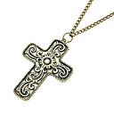 modni retro križ dugo ogrlica