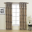 (Two Panels) Traditional Leaf Room Darkening Curtain