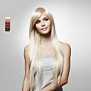 使用可能なキャップレスロングストレート高品質人工毛かつら、複数の色