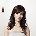 capless long corps bruns bouclés cheveux 100% 5 couleurs au choix