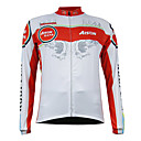 Kooplus Quick Dry Men's Long Sleeve Cycling Jersey (Red Flying Wing)