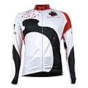 Kooplus Quick Dry Men's Long Sleeve Cycling Jersey (Ink Marks)