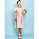 plašt / stupac trg koljeno duljine šifon djeveruša haljina junior (252741)