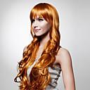 nadolijevanja extra dugo najviše ocjene kvalitete sintetička zlatno smeđe kovrčave kose perika