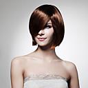 nadolijevanja kratki bob visoke kvalitete sintetička crne ravne kose perika
