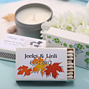 Wedding Décor Personalized Matchboxes - Maple Leaves (Set of 12)