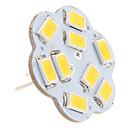 G4 4.5w 9x5630 SMD 400-430lm 3000-3500K toplo bijelo svjetlo u obliku lotosa vertikalnom pinski LED spot žarulja (12V)