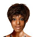 capless krátké kvalitní syntetický přírodě vzhled světle hnědé rovné vlasy paruka