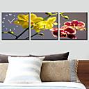 Modern Scenic Wall Clock in Canvas 3pcs K0019