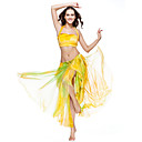 Belly Dance Skirts Women's Training Polyester Tie Dye 1 Piece Dropped Skirt