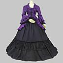 Jednodílné/Šaty Klasická a tradiční lolita Retro Cosplay Lolita šaty Fialová / Černá Retro Dlouhé rukávy Long Length Šaty Pro Dámské