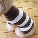 猫用品 / 犬用品 セーター ブラウン 犬用ウェア 冬 縞柄 ファッション / 保温