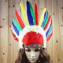 Prázdninové šperky cosplay Festival/Svátek Halloweenské kostýmy Červená Tisk Vlasové ozdoby Halloween / Karneval / Nový rok Unisex Peří