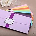 あり 折本式 結婚式の招待状 招待状カード-20 ピース/セット クラシック カード用紙 21.5cm*11.5cm リボン