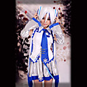 Inspirovaný Vocaloid Snow Miku Video Hra Cosplay kostýmy Cosplay šaty Bez rukávů Vesta / Sukně / Vlasové ozdoby / Kravata / Rukávy / Pásek