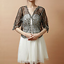 Wedding  Wraps Coats/Jackets Half-Sleeve Tulle Black / White / Camel Party/Evening / Casual T-shirt Clasp