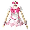 Inspirirana PrettyCure Cure Blossom Anime Cosplay Kostimi Cosplay Suits / Dresses Kolaž Bijela / Roza Kratki rukavTop / Suknja /