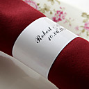 Personalized Paper Napkin Ring - Lilac Flowers (Set of 50)