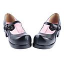 Cipele Classic/Tradicionalna Lolita Ručno Izrađen Štiklu Cipele Jednobojni 4.5 CM Crn Za Žene Umjetna koža/Polyurethane Leather