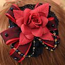 ジュエリー ゴスロリータ 帽子 ロリータ レッド / ブラック ロリータアクセサリー ヘッドピース フラワー のために 男性 / 女性 コットン