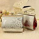 6 ks / set Držák laskavost - tvůrčí kovů laskavost tašky stříbrný motýl tisk kabelka