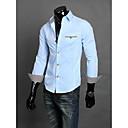 Obično Muška Majica Posao Dugih rukava Crna / Plava / Bijela