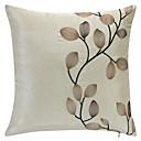 カントリー刺繍ボタニカルポリエステル装飾的な枕カバー