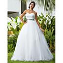 Lanting Bride® Plesové šaty Drobná / Nadměrné velikosti Svatební šaty - Klasické & nadčasové / Elegantní & luxusní Na zem Srdce Tyl s