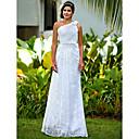 Lanting Bride® Pouzdrové Drobná / Nadměrné velikosti Svatební šaty - Klasické & nadčasové / Okouzlující & dramatické Na zem Jedno rameno