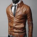Pánská vypasovaná motorkářská bunda se stojáčkem