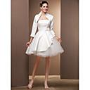 Lanting Bride® Princess Drobná / Nadměrné velikosti Svatební šaty - Šaty na hostinuSvatební šaty s bolerkem / Malé bílé / Svatební šaty