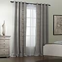 twopages® dvou panelů polyester bavlna míchat solidní moderní záclona sada