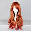 Zipper Brown i Red Soft Wave 65cm Sweet Lolita Wig