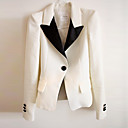 pinklady elegantní ramenní polstr plášť bavlněný oblek sako