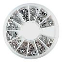 240PCS Nail Art Silver Smíšené tvary akryl drahokamu