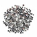 1000ks náměstí ve tvaru drahokamu Nail Art Dekorace 2mm Transparent