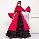 Jednodílné/Šaty Klasická a tradiční lolita Lolita Cosplay Lolita šaty Červená / Černá Patchwork Dlouhé rukávy Long Length Šaty Pro Dámské
