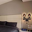 Zidna svjetiljka sa 2 svjetla crne boje i platnenim sjenilima