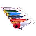 Trulinoya-Hard Bait Popper 60mm/7g Water Surface Fishing Lure (Random Color)